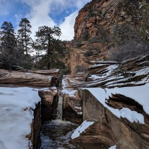 Zion National Park Snowy Trail